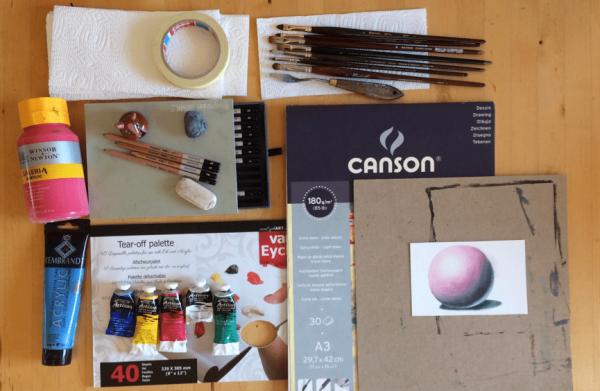 Tekenmateriaal en schildermateriaal - Chantal Magazine
